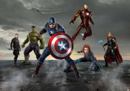 Avengers wall mural wallpaper - Marvel Movie